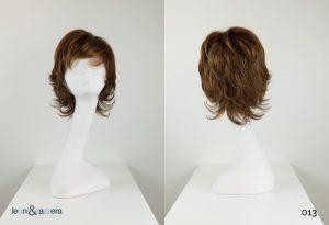 Parrucca naturale con capelli veri corti castani mossi