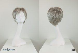 Parrucca naturale con capelli veri corti grigio chiaro mossi