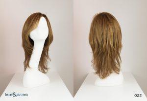 Parrucca naturale con capelli veri lunghi lisci castano chiaro