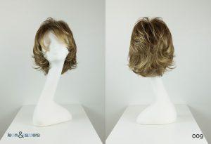 Parrucca naturale con capelli veri corti biondi mossi