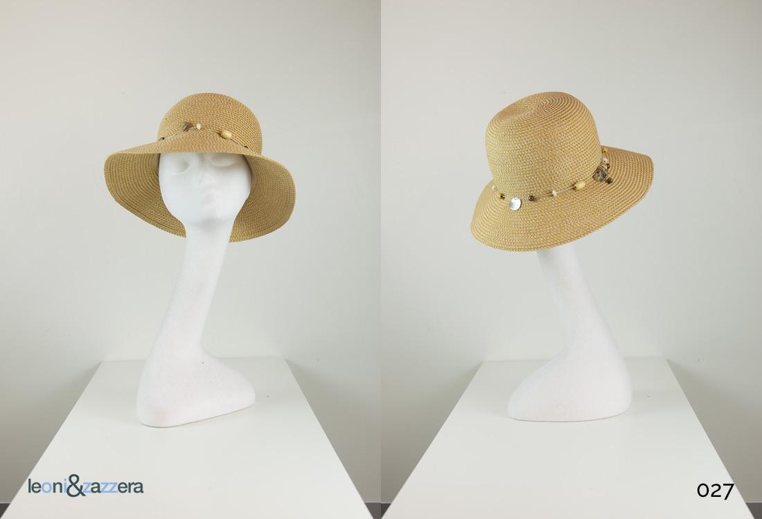 Cappello estivo per chemioterapia paglia