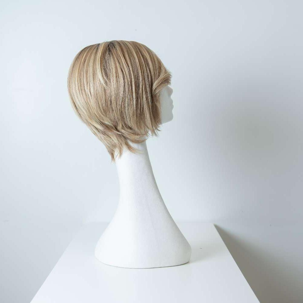 Parrucca capelli veri corti castanio scuro lisci donna_retro_Leoni-Zazzera